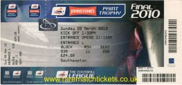 2010 flt [jpt] final [SOUTHAMPTON] 4 CARLISLE UTD 1 (unused)
