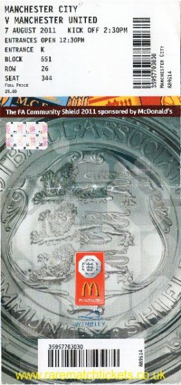 2011 cs MANCHESTER UTD 3 [MANCHESTER CITY] 2 (unused)