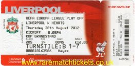 2012-13 el po 2nd LIVERPOOL 1 HEARTS 1 (unused)