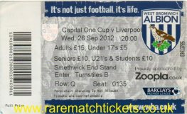 2012-13 LC r3 WEST BROMWICH ALBION 1 LIVERPOOL 2