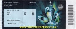 2012 cl final CHELSEA 1 BAYERN MUNICH 1 (unused) PERSONALISED