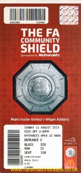 2013 cs MANCHESTER UTD 2 WIGAN ATHLETIC 0