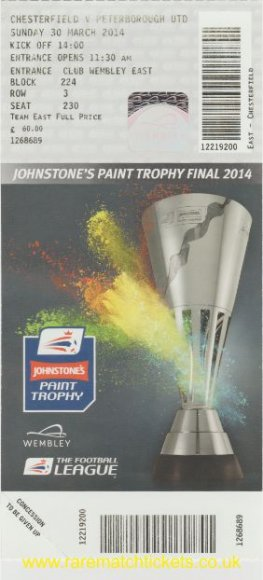 2014 flt final PETERBOROUGH UTD 3 CHESTERFIELD 1 (unused)