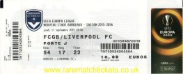 2015-16 el grB m1 BORDEAUX 1 LIVERPOOL 1 (unused)