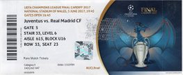 2017 cl final REAL MADRID 4 JUVENTUS 1 (unused) PERSONALISED