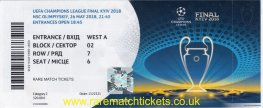 2018 cl final REAL MADRID 3 LIVERPOOL 1 (unused) PERSONALISED