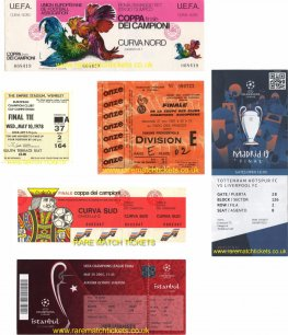 6 winning european cup/champions league finals tickets