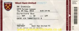 2016-17 el 3q 2nd WEST HAM UTD 3 NK DOMZALE [dir] (unused)