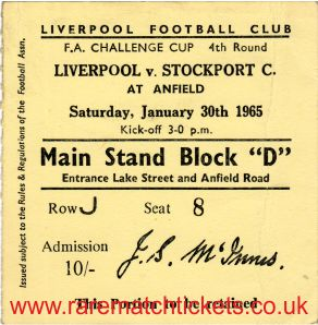 1964-65 fac4 LIVERPOOL 1 STOCKPORT COUNTY 1