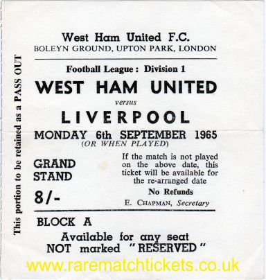 1965-66 div1 m05 WEST HAM UTD 1 LIVERPOOL 5 [A]