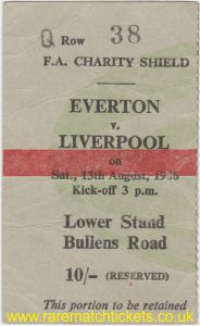 1966 cs LIVERPOOL 1 EVERTON 0