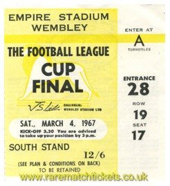 1967 lc final QUEENS PARK RANGERS 3 WEST BROMWICH ALBION 2