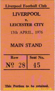 1975-76 div1 m38 LIVERPOOL 1 LEICESTER CITY 0 [ms]
