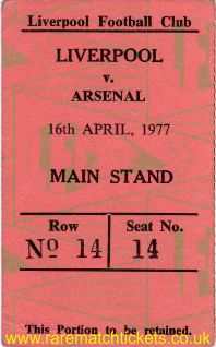 1976-77 div1 m36 LIVERPOOL 2 ARSENAL 0 [ms]
