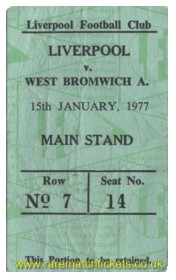 1976-77 div1 m24 LIVERPOOL 1 WEST BROMWICH ALBION 1 [ms] green