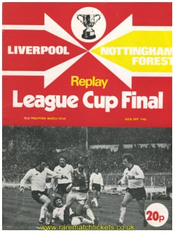 1978 LC final replay NOTTINGHAM FOREST 1 LIVERPOOL 0