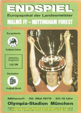 1979 ec final NOTTINGHAM FOREST 1 MALMO 0