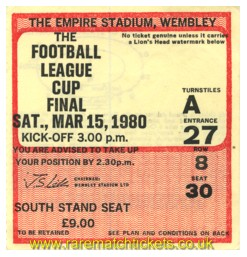 1980 lc final WOLVERHAMPTON W 1 NOTTINGHAM FOREST 0 [south st]
