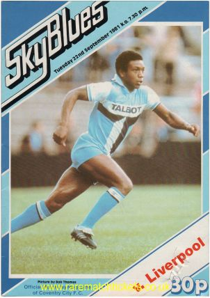 1981-82 div 1 m06 COVENTRY CITY 1 LIVERPOOL 2