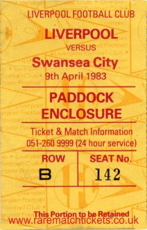 1982-83 div1 m35 LIVERPOOL 3 SWANSEA CITY 0 [pad]