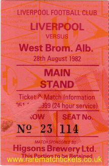 1982-83 div1 m01 LIVERPOOL 2 WEST BROMWICH ALBION 1 [ms]