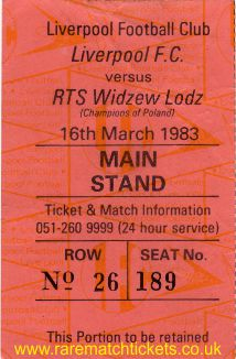 1982-83 ec r3 2nd LIVERPOOL 3 WIDZEW LODZ 2 [ms]