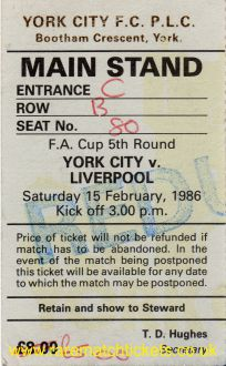 1985-86 fac r5 YORK CITY 1 LIVERPOOL 1