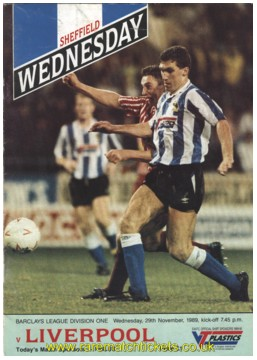 1989-90 div 1 m15 SHEFFIELD WEDNESDAY 2 LIVERPOOL 0