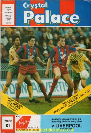 1989-90 div 1 m24 CRYSTAL PALACE 0 LIVERPOOL 2