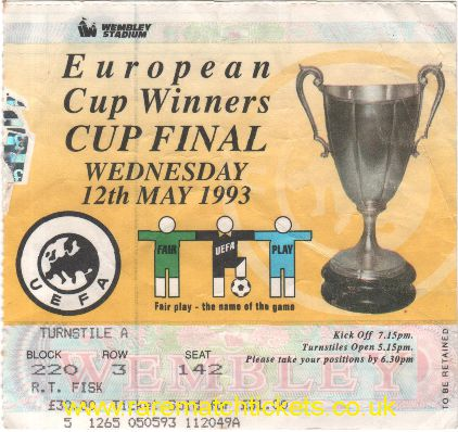 1993 cwc final PARMA 3 ROYAL ANTWERP 1