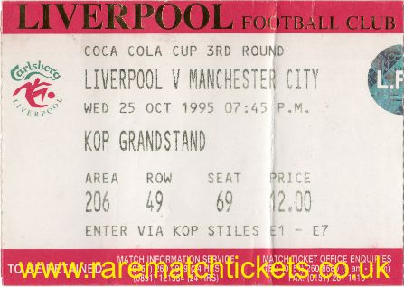 1995-96 LC R3 LIVERPOOL 4 MANCHESTER CITY 0