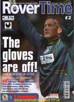 1999-07-31 BLACKBURN ROVERS 2 LIVERPOOL 2