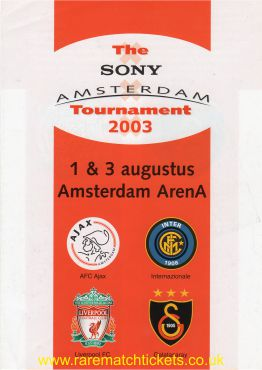 2003-08-01 AMSTERDAM TOURNAMENT (AMSTERDAM ARENA)