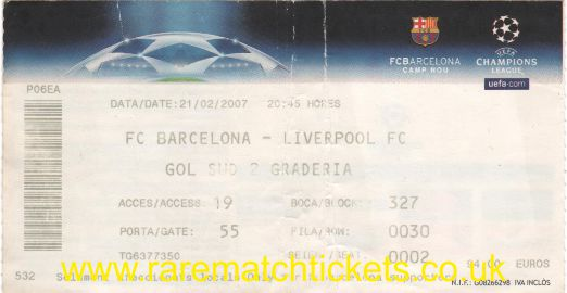 2006-07 cl r16 1st BARCELONA 1 LIVERPOOL 2