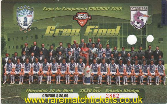 2008 concacaf champions final 2nd PACHUCA 2 SAPRISSA 1