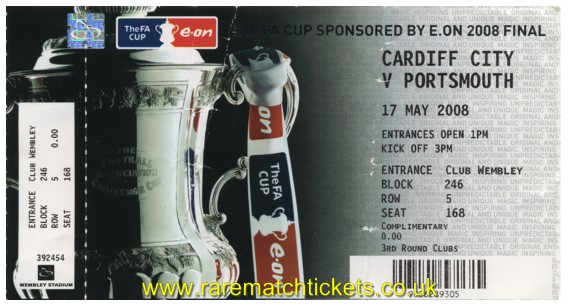 2008 fac final PORTSMOUTH 1 CARDIFF CITY 0 (unused)