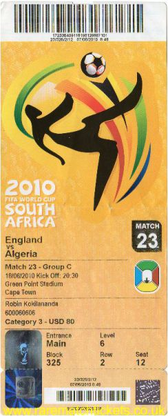 2010 wc grC m2 ENGLAND 0 ALGERIA 0 (unused)