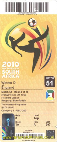2010 wc l16 GERMANY 4 ENGLAND 1 (unused)