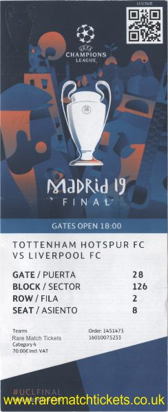 2019 cl final LIVERPOOL 2 TOTTENHAM HOTSPUR 0